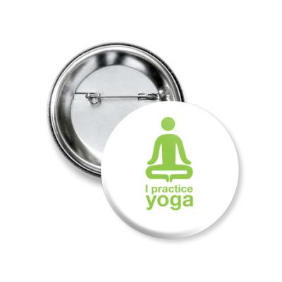 Значок 37мм yoga