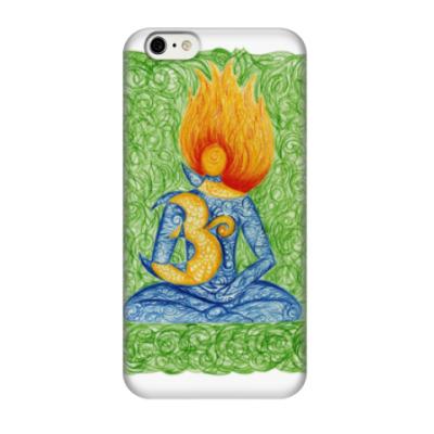 Чехол для iPhone 6/6s Огненный символ Ом (Аум)