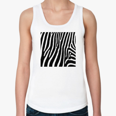 Женская майка зебра