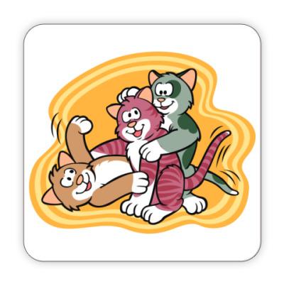 Костер (подставка под кружку) Кошкины игры