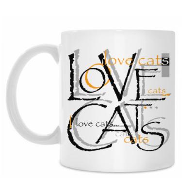 Кружка Люблю кошек