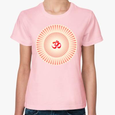 Женская футболка Светящийся Om (Aum)