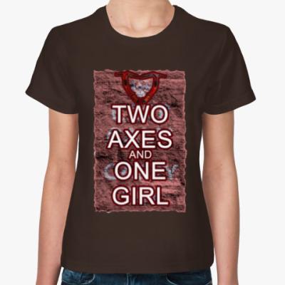 Женская футболка Tomb Raider: 2 Ax 1 Girl