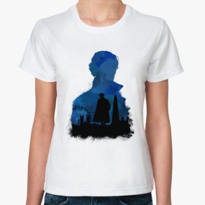 Классическая футболка Шерлок Холмс - силуэты
