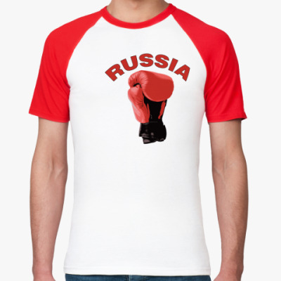 Футболка реглан Россия бокс