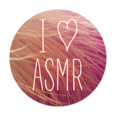 Виниловые наклейки Я люблю ASMR (перо)