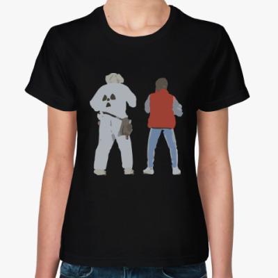 Женская футболка Назад в будущее