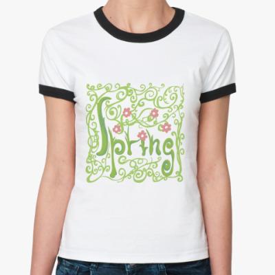 Женская футболка Ringer-T Spring