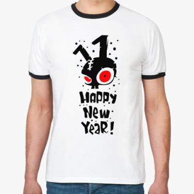 Футболка Ringer-T Happy New Year