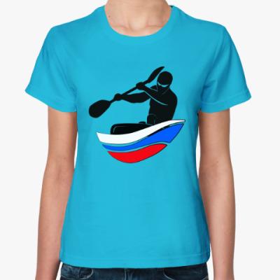 Женская футболка Байдарка