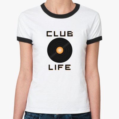 Женская футболка Ringer-T Club Life