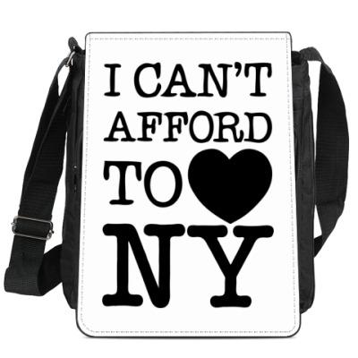 Сумка-планшет I can't afford to love NY