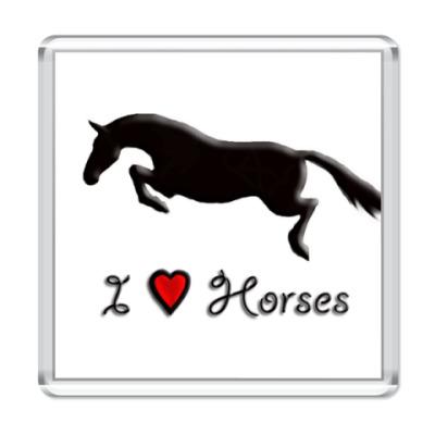 Магнит  I love horses