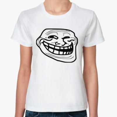 Классическая футболка Trollface