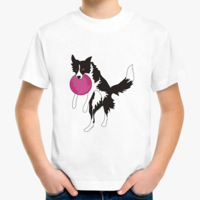 Детская футболка бордер колли