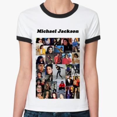 Женская футболка Ringer-T Майкл Джексон