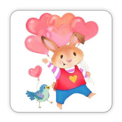 Костер (подставка под кружку) Кролик с Любовью