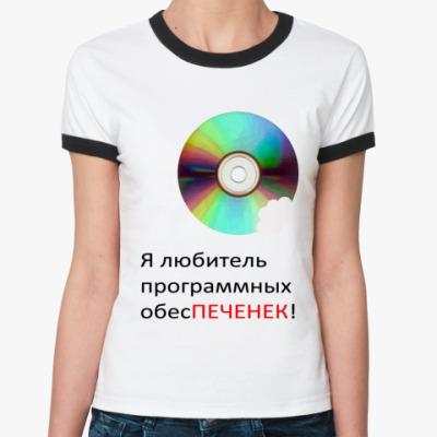 Женская футболка Ringer-T Программные обесПЕЧЕНЬКИ