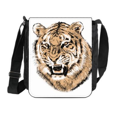 Сумка на плечо (мини-планшет) Тигр