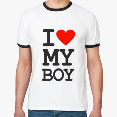 Футболка Ringer-T I love my boy