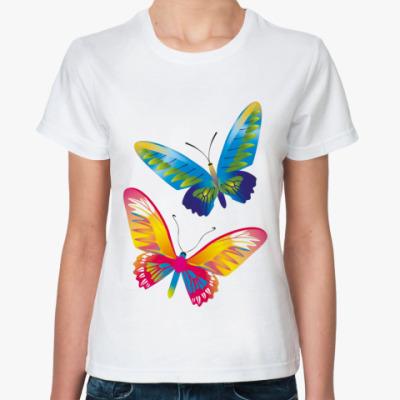 Классическая футболка Две бабочки