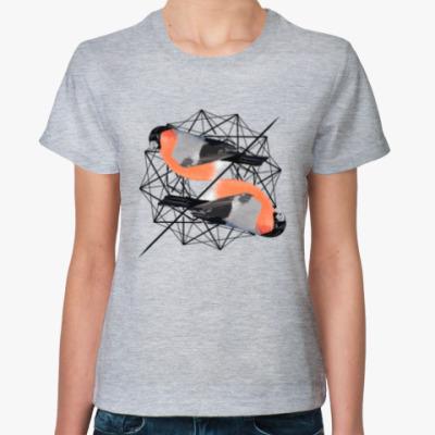 Женская футболка Синички