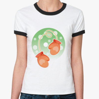 Женская футболка Ringer-T Варежки
