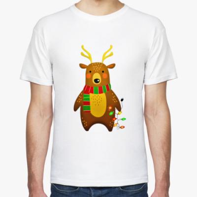 Футболка Новогодний медведь