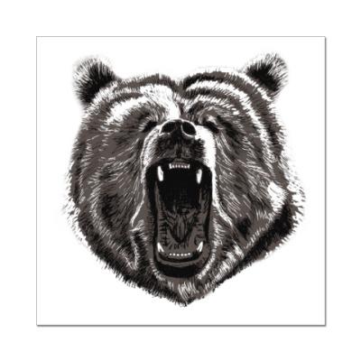 Наклейка (стикер) Медведь