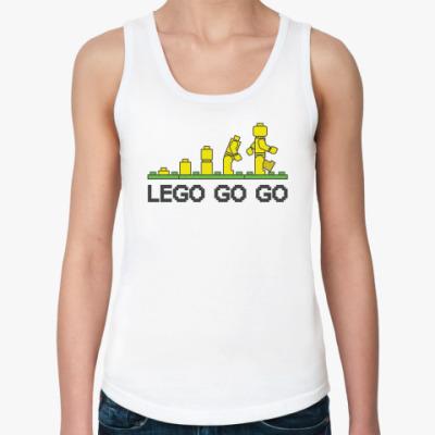 Женская майка Lego go