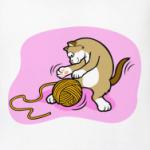 Кот с клубочком